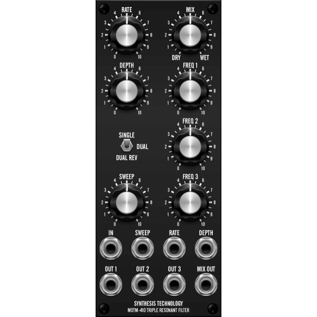 MOTM-410 triple resonant filter + dual vc lfo (MOTM410MASTER) by synthcube.com