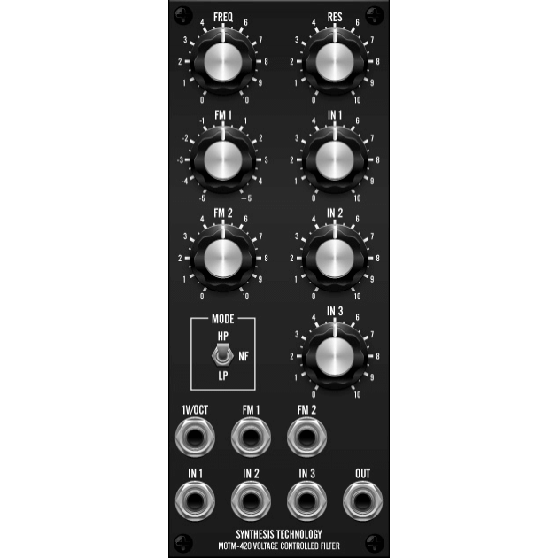 MOTM-420 ms-20 voltage controlled filter (M)TM420MASTER) by synthcube.com