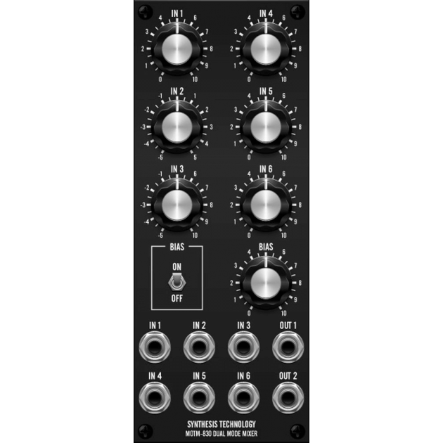 MOTM-830 dual mode mixer (MOTM830MASTER) by synthcube.com