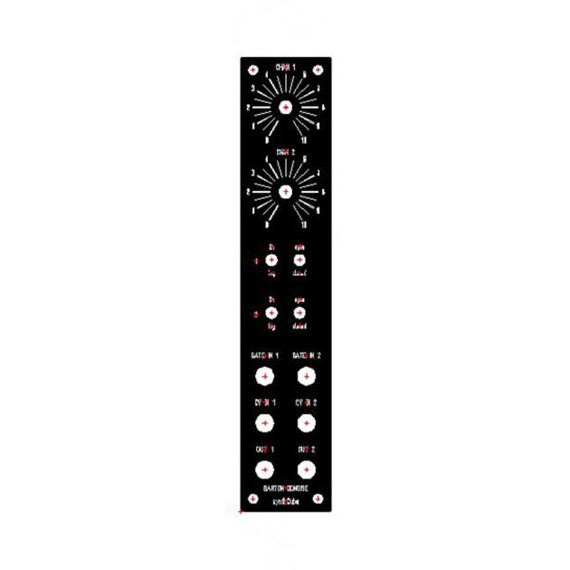 barton dual decaying noise, kit, motm, 2U (KITMBDDNXMOTM1U) by synthcube.com